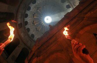 Христиане ожидают схождения Благодатного огня