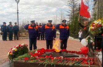 Сотрудники МЧС Якутии отдали дань памяти погибшим в годы Великой Отечественной войны
