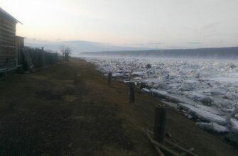 Нижняя кромка ледохода на реке Олекма вышла в устье