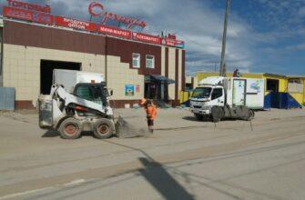 На улицах Якутска ведут плановые работы по уборке и ямочному ремонту