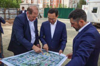 В Нерюнгри продолжается строительство нового квартала для работников «Колмар»