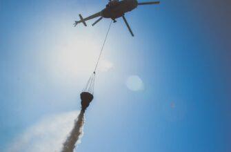 Вертолет Ми-8 сбросил более 50 тонн воды на природный пожар в Нюрбинском улусе