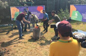 На Ысыахе Олонхо выплавлен металл по древней технологии якутских кузнецов
