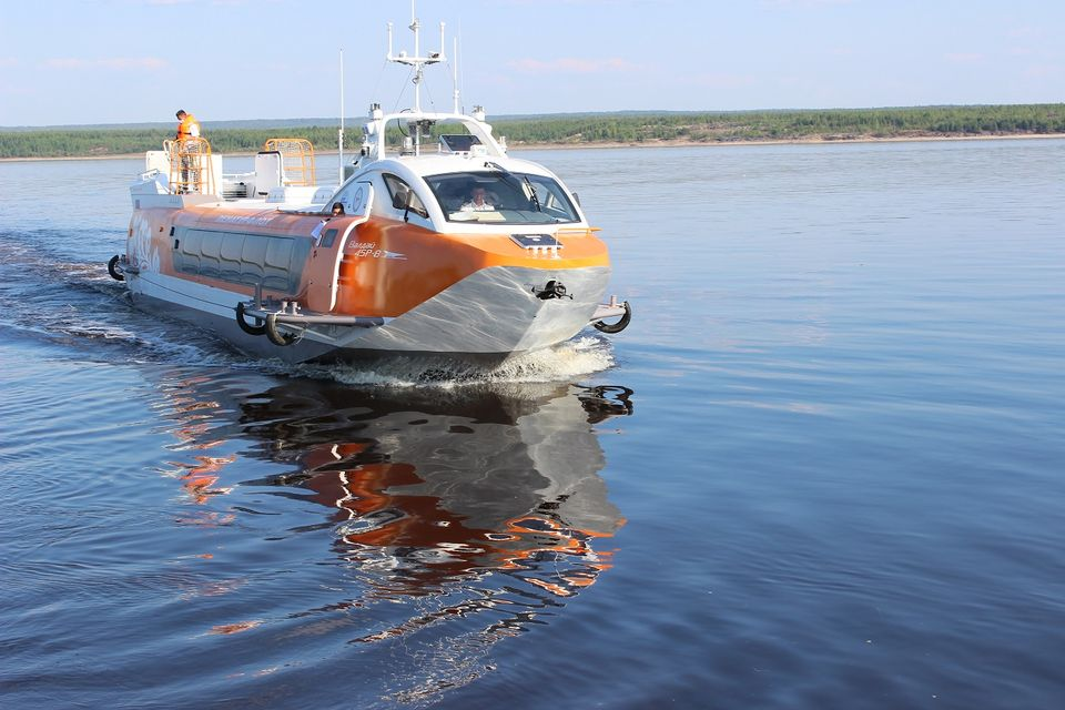 В город Олекминск Якутии прибыли первые скоростные суда «Валдай»