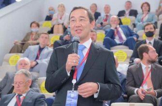 Глава Якутии работает на Петербургском международном экономическом форуме