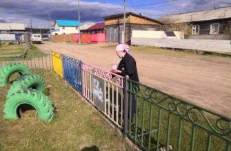 В канун Дня защиты детей энергетики отремонтировали детскую площадку в селе Борогонцы