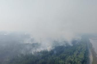 Проводится усиление сил и средств для тушения пожара близ села Мар Нюрбинского района