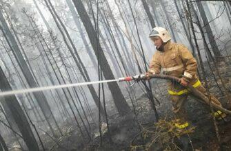 В Верхневилюйском районе Якутии тушат 4 лесных пожара