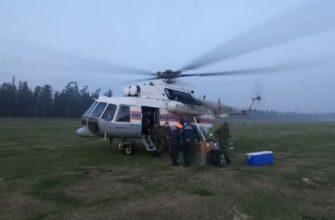 Авиацию МЧС России привлекли к тушению лесного пожара близ села Мар в Якутии