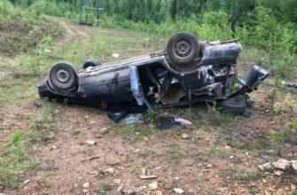 В Алданском районе Якутии пьяная езда на автомобиле завершилась аварией