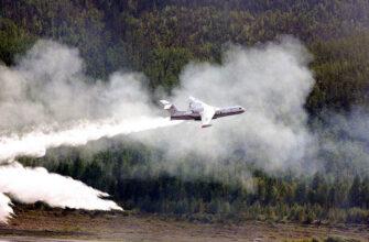 За месяц воздушные суда МЧС России сбросили на леса Якутии около 4 тысяч тонн воды