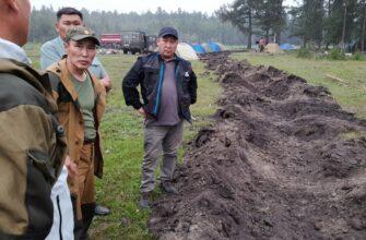 Возле села Магарас Якутии проложили минерализованную полосу и организовали встречный пал
