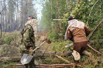 Отряд АГАТУ помог посёлку Кюёрелях спастись от наступления лесного пожара