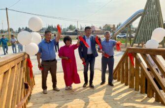 В селе Бердигестях Якутии состоялось открытие набережной реки Матта