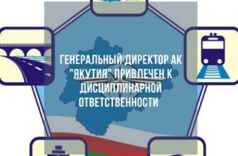 Генеральный директор авиакомпании «Якутия» привлечен к дисциплинарной ответственности