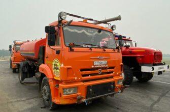 В Горный район Якутии отправилась автоколонна на помощь в тушении лесных пожаров