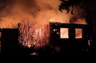Мужчина погиб при пожаре в частном доме в Ленске