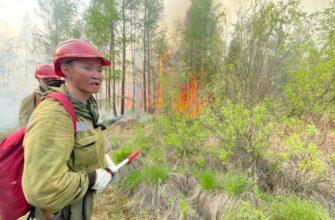 Спасатели Службы спасения Якутии выехали в Горный район для тушения лесных пожаров