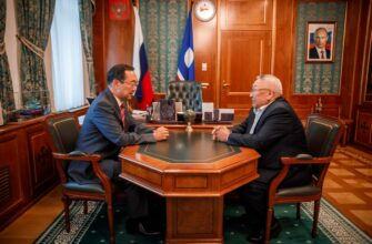 Глава Якутии и сенатор обсудили актуальные для республики темы