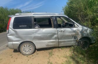 В Намском районе Якутии опрокинулся микроавтобус