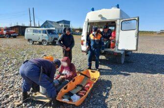 В Момском районе Якутии спасатели эвакуировали пострадавшую туристку
