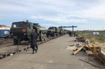 В Нижний Бестях прибыла военная техника сводной инженерной роты Минобороны России