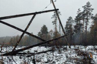 Энергетики восстановили работу линии, пострадавшей от лесного пожара в Усть-Майском улусе Якутии