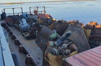 Чистая Арктика. Собранный в Тикси Якутии металлолом готовится к отправке в Комсомольск-на-Амуре