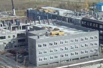 В микрорайоне «Прометей» Якутска продолжается строительство школы на 990 мест