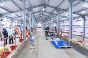 В селе Бясь-Кюель Якутии завершают строительство животноводческого комплекса на 100 голов