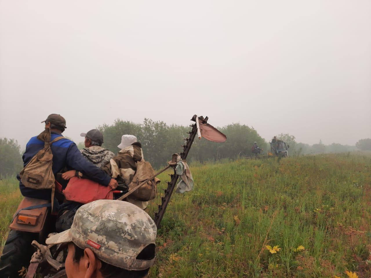 Ликвидирован лесной пожар напротив села Чычымах в Таттинском улусе