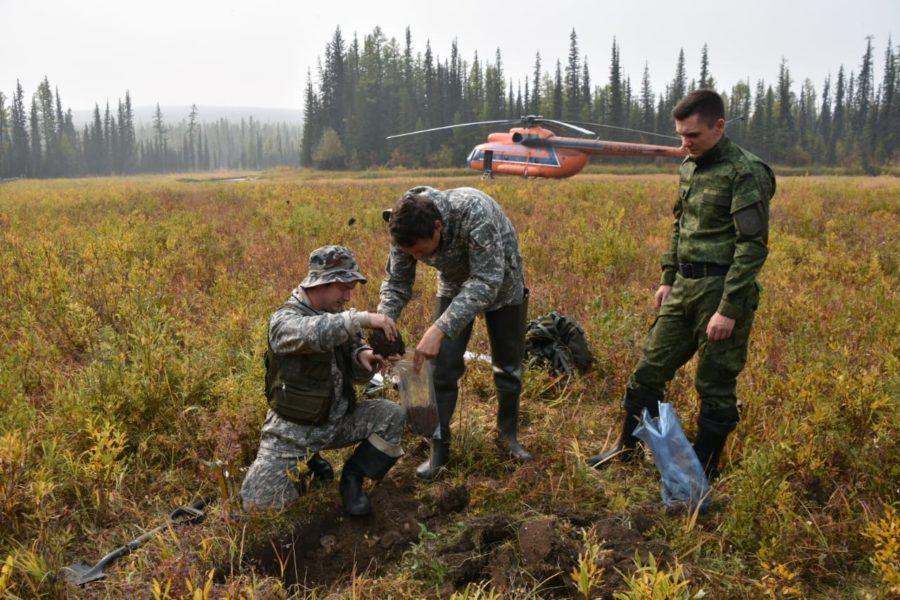 В Якутии в районах падения фрагментов ракет-носителей начаты рекогносцировочные работы
