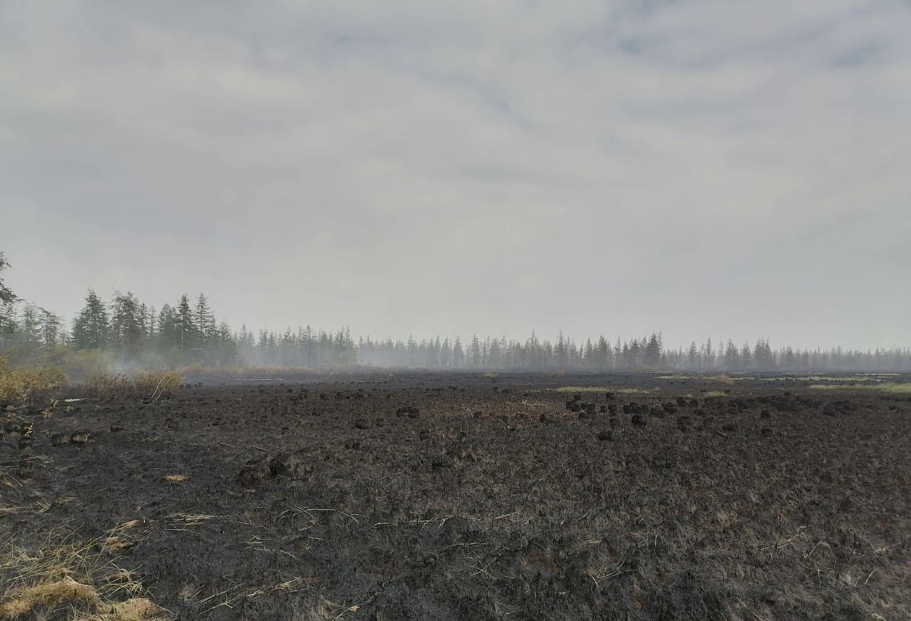 В Среднеколымском районе продолжаются работы по стабилизации лесопожарной обстановки
