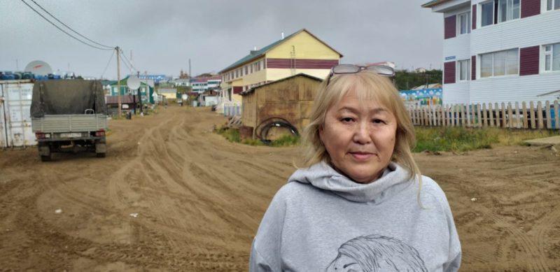 Жительница села Саскылах  Екатерина Соловьева благодарит за помощь в тушении пожара